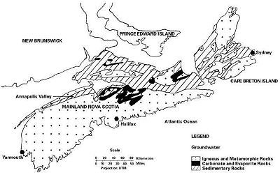 Groundwater regions of Nova Scotia