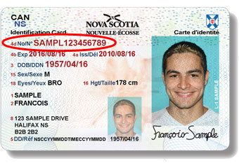 Nova Scotia Identification Card